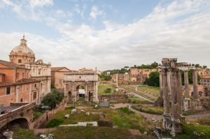 View of the Forum from the Capitoline Museums