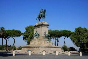 Garibaldi's Equestrian Statue on the summit of the Janiculum Hill