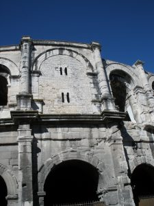 Medieval defensive modifications to a Roman amphitheater