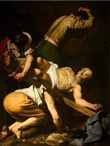 Caravaggio's The Crucifixion of St. Peter