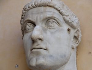 Head of Constantine the Great statue, now in the Capitoline Museums
