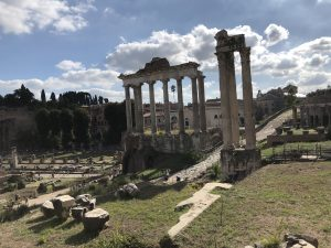 Ruins of the Temple of Concordia and the Temple of Saturn in the Roman Forum