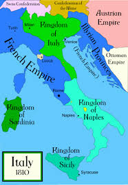 Map of Italy in 1810