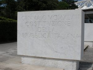 Monument to the Italian Constitution in 1948