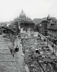 neighborhood being demolished to make way for the Via della Conciliazione