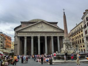 Rome's Pantheon used to sit high: now it is below the level of its piazza